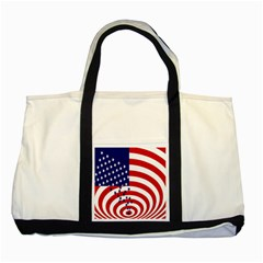 Star Line Hole Red Blue Two Tone Tote Bag by Mariart