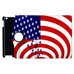 Star Line Hole Red Blue Apple Ipad 3/4 Flip 360 Case by Mariart