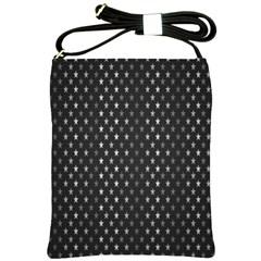 Rabstol Net Black White Space Light Shoulder Sling Bags by Mariart