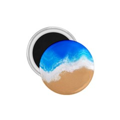 Sand Beach Water Sea Blue Brown Waves Wave 1 75  Magnets by Mariart