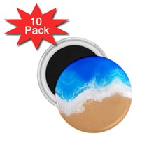 Sand Beach Water Sea Blue Brown Waves Wave 1 75  Magnets (10 Pack)  by Mariart