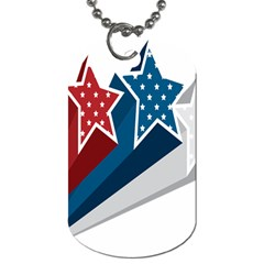 Star Red Blue White Line Space Dog Tag (two Sides) by Mariart