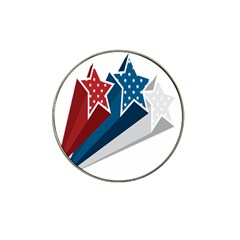 Star Red Blue White Line Space Hat Clip Ball Marker (10 Pack) by Mariart