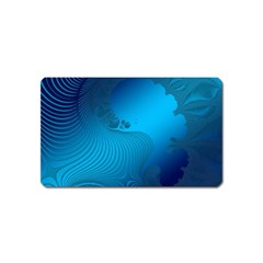 Fractals Lines Wave Pattern Magnet (name Card) by Nexatart