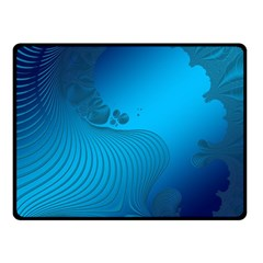 Fractals Lines Wave Pattern Fleece Blanket (small) by Nexatart