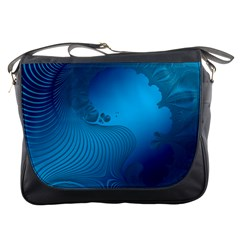 Fractals Lines Wave Pattern Messenger Bags by Nexatart