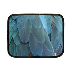 Feather Plumage Blue Parrot Netbook Case (small)  by Nexatart