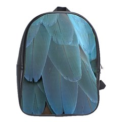 Feather Plumage Blue Parrot School Bags(Large)