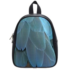 Feather Plumage Blue Parrot School Bags (small)  by Nexatart
