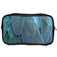 Feather Plumage Blue Parrot Toiletries Bags by Nexatart