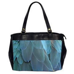 Feather Plumage Blue Parrot Office Handbags (2 Sides)  by Nexatart