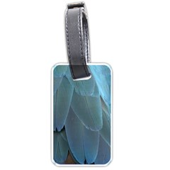 Feather Plumage Blue Parrot Luggage Tags (two Sides)