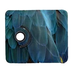 Feather Plumage Blue Parrot Galaxy S3 (flip/folio) by Nexatart
