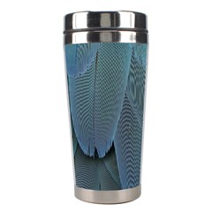 Feather Plumage Blue Parrot Stainless Steel Travel Tumblers by Nexatart