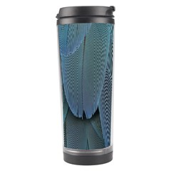 Feather Plumage Blue Parrot Travel Tumbler by Nexatart