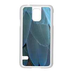 Feather Plumage Blue Parrot Samsung Galaxy S5 Case (white) by Nexatart