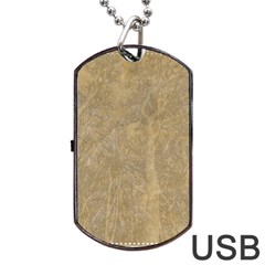 Abstract Forest Trees Age Aging Dog Tag Usb Flash (one Side) by Nexatart