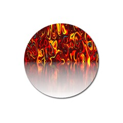 Effect Pattern Brush Red Orange Magnet 3  (round) by Nexatart
