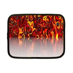 Effect Pattern Brush Red Orange Netbook Case (small)  by Nexatart