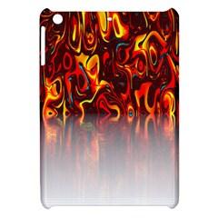 Effect Pattern Brush Red Orange Apple Ipad Mini Hardshell Case by Nexatart