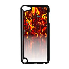 Effect Pattern Brush Red Orange Apple Ipod Touch 5 Case (black) by Nexatart