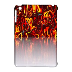Effect Pattern Brush Red Orange Apple Ipad Mini Hardshell Case (compatible With Smart Cover) by Nexatart