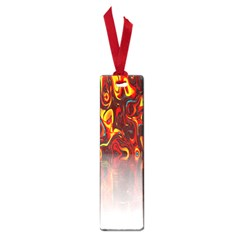 Effect Pattern Brush Red Orange Small Book Marks by Nexatart