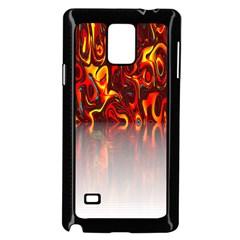 Effect Pattern Brush Red Orange Samsung Galaxy Note 4 Case (black) by Nexatart