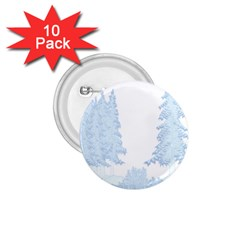 Winter Snow Trees Forest 1 75  Buttons (10 Pack) by Nexatart