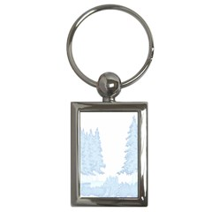 Winter Snow Trees Forest Key Chains (rectangle)  by Nexatart