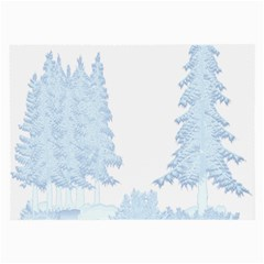 Winter Snow Trees Forest Large Glasses Cloth (2 Side) by Nexatart