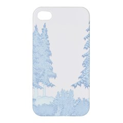 Winter Snow Trees Forest Apple Iphone 4/4s Hardshell Case by Nexatart
