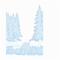 Winter Snow Trees Forest Large Garden Flag (two Sides) by Nexatart