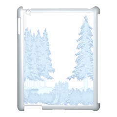 Winter Snow Trees Forest Apple Ipad 3/4 Case (white) by Nexatart