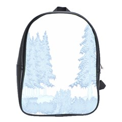Winter Snow Trees Forest School Bags (xl)  by Nexatart