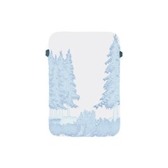 Winter Snow Trees Forest Apple Ipad Mini Protective Soft Cases by Nexatart