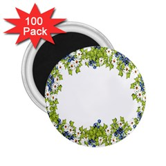 Birthday Card Flowers Daisies Ivy 2 25  Magnets (100 Pack)  by Nexatart