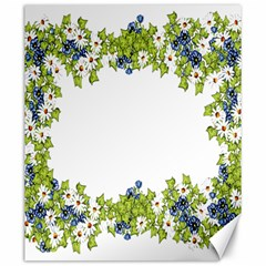 Birthday Card Flowers Daisies Ivy Canvas 20  X 24   by Nexatart
