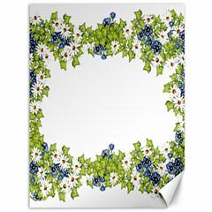 Birthday Card Flowers Daisies Ivy Canvas 36  X 48