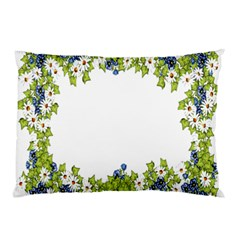 Birthday Card Flowers Daisies Ivy Pillow Case (two Sides) by Nexatart