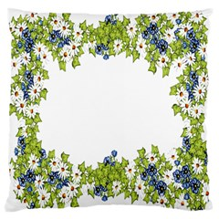 Birthday Card Flowers Daisies Ivy Large Cushion Case (one Side) by Nexatart