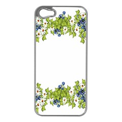 Birthday Card Flowers Daisies Ivy Apple Iphone 5 Case (silver) by Nexatart