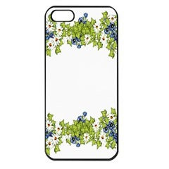 Birthday Card Flowers Daisies Ivy Apple Iphone 5 Seamless Case (black) by Nexatart