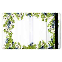 Birthday Card Flowers Daisies Ivy Apple Ipad 3/4 Flip Case by Nexatart