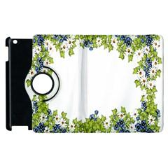 Birthday Card Flowers Daisies Ivy Apple Ipad 2 Flip 360 Case by Nexatart