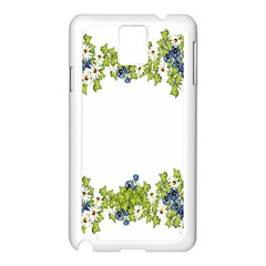 Birthday Card Flowers Daisies Ivy Samsung Galaxy Note 3 N9005 Case (white) by Nexatart