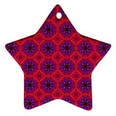 Retro Abstract Boho Unique Star Ornament (two Sides) by Nexatart