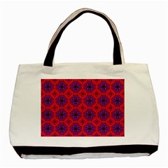 Retro Abstract Boho Unique Basic Tote Bag (two Sides) by Nexatart