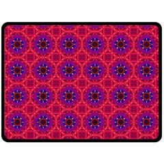 Retro Abstract Boho Unique Double Sided Fleece Blanket (large)  by Nexatart