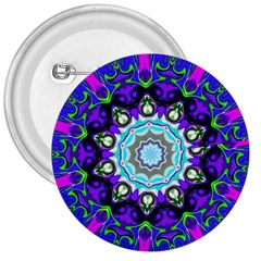 Graphic Isolated Mandela Colorful 3  Buttons by Nexatart